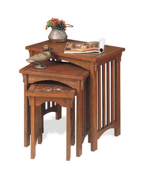 Powell 359 Mission Oak 3-Piece Nested Tables