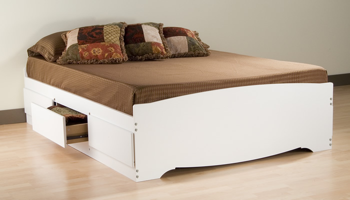 Prepac WBQ-6200 Monterey Queen Platform Bed - 6 drawers White at Sears.com