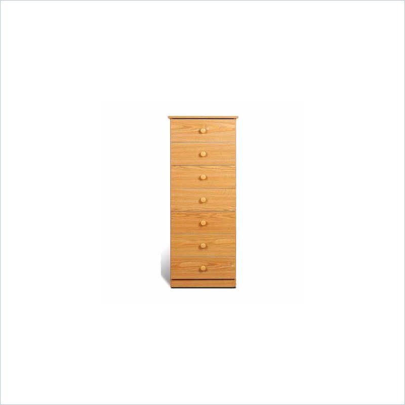 Lingerie Chest - Prepac OBD-2050-7 7 Drawer Lingerie Chest Oak