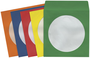 MAXELL 190132 - CD403 CD/DVD Storage Sleeves 100-pk Colors