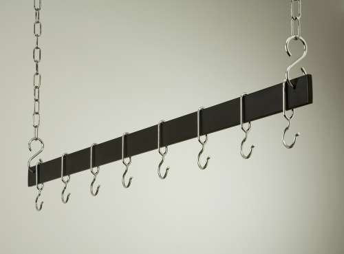 Rogar 1615 48 Inch Black Hanging Bar Rack/Chrome at Sears.com