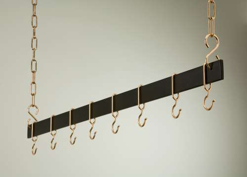 Rogar 1717 54 Inch Black Hanging Bar Rack/Copper at Sears.com