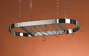 Rogar 2701 Large Oval with grid - Hammered Steel/Chrome