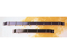 Rogar 1310 36 Inch Bar Rack - Black with 8 Black Regular Hooks