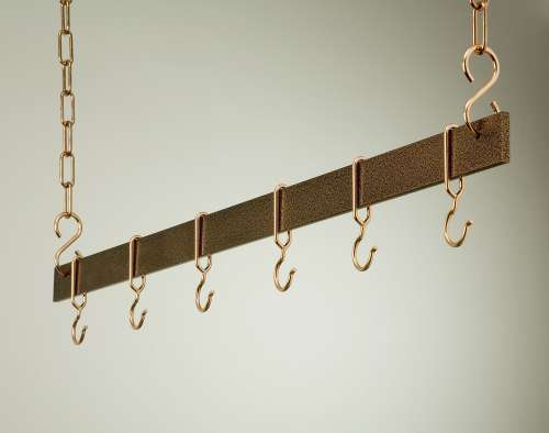 Rogar 1444 36 Inch Hanging Bar - Hammered Copper and Copper