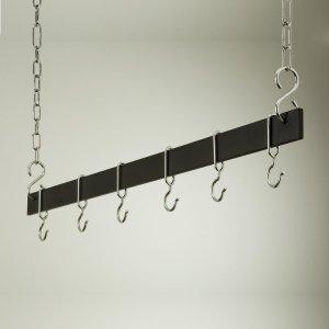 Rogar 1515 42 Inch Hanging Bar - Black and Chrome