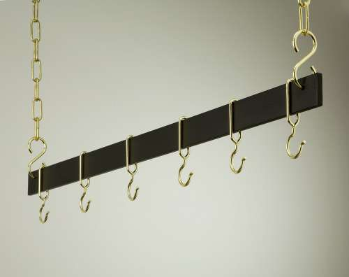 Rogar 1516 42 Inch Hanging Bar - Black and Brass at Sears.com