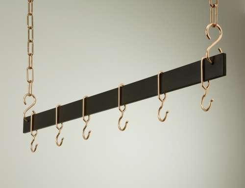 Rogar 1517 42 Inch Hanging Bar - Black and Copper