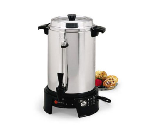 Focus 58015V West Bend 55 Cup 220/240 Volt Aluminum Coffee Urn RW136