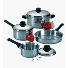 Focus KPW9007 7 pc. Stainless Steel Cookware Set