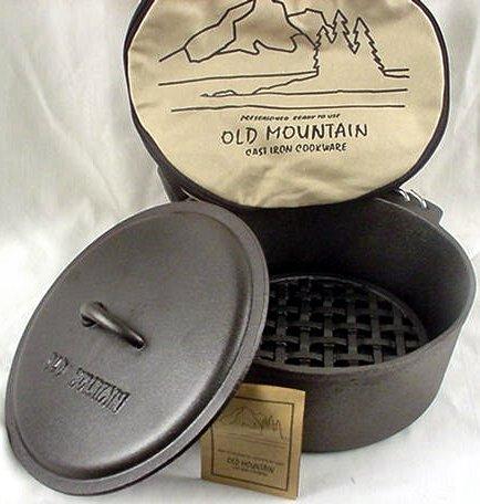 IWDSC 0166-10111 Heavy Cast Iron Old Mountain Dutch Oven
