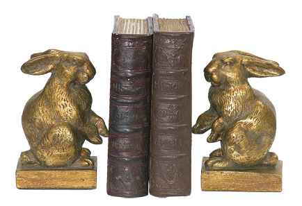 SI 4-83037 Pair Baby Rabbit Bookends No.91
