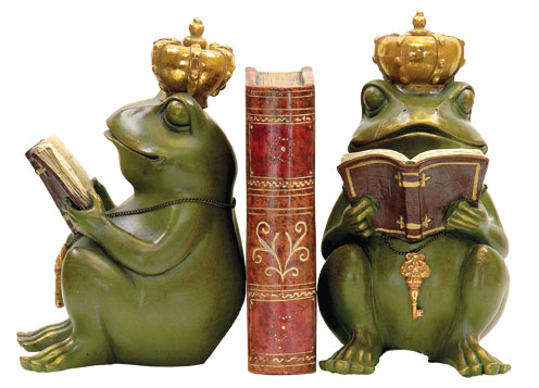 SI 7-8188 Pair Superior Frog Gatekeeper Bookends No.93