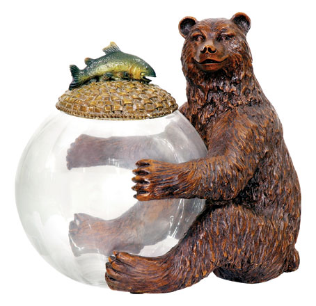 "Sterling Industries 91-2246 11"" H x 9.25"" W x 11.25"" D Bear Jar Keeper"