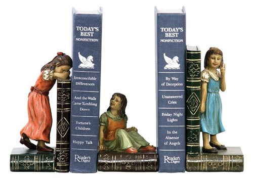 Sterling Industries 91-2448 Set Child Games Bookends