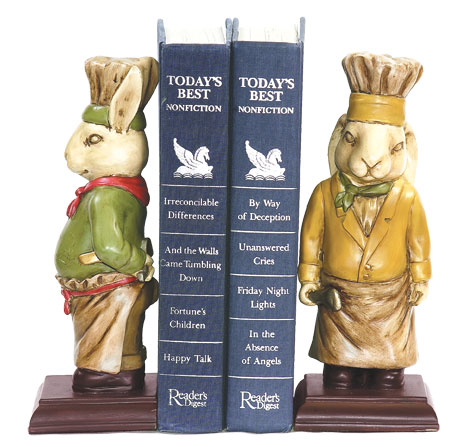 Sterling Industries 91-2799 Pair Chef Bunny Bookends