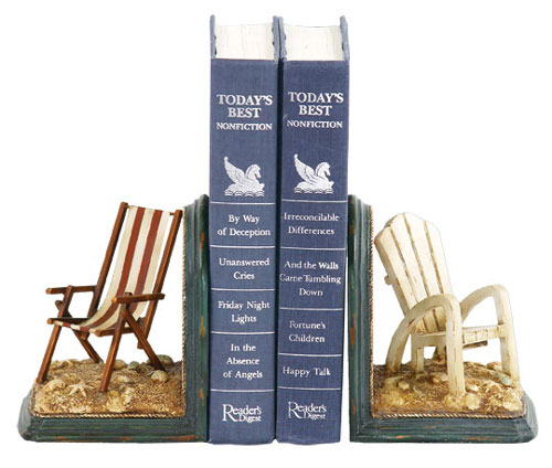 SI 91-4206 Pair Beach Chair Bookends