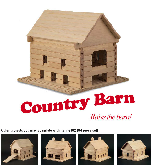 Stack  Stick 402 Country Barn Educational Building Blocks  94 Piece Set