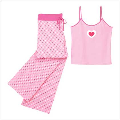 Camisoles - MULTI HEARTS CAMISOLE PJ SET-S
