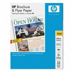 HP Brochure and Flyer Paper - Letter - 8.5    x 11    - Glossy - 50 Sheet - Brochure & Flyer Paper