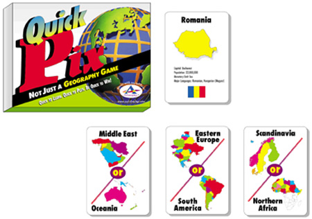 Talicor 112A Quick Pix Geography Card Games