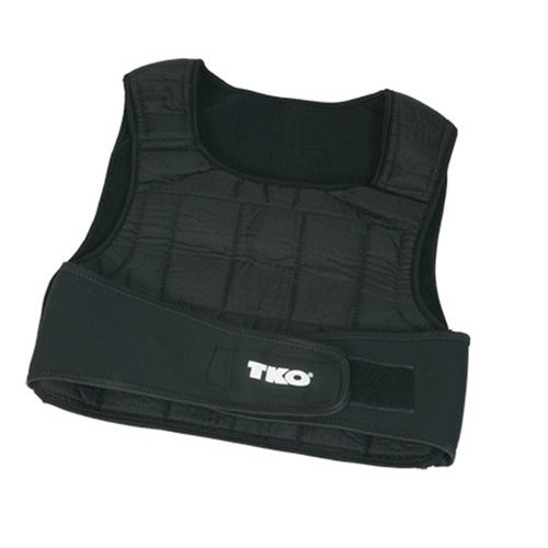 Weighted Vests - TKO 242WV 20 Lb Weighted Vest Black NEW SOFT STEEL DESIGN