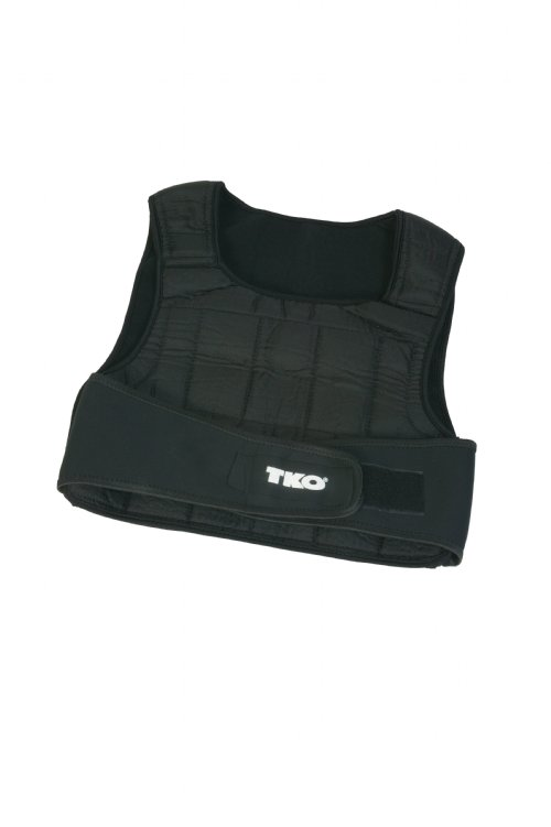 Weighted Vest - TKO 244WV 40# Weighted Vest Black NEW SOFT STEEL DESIGN