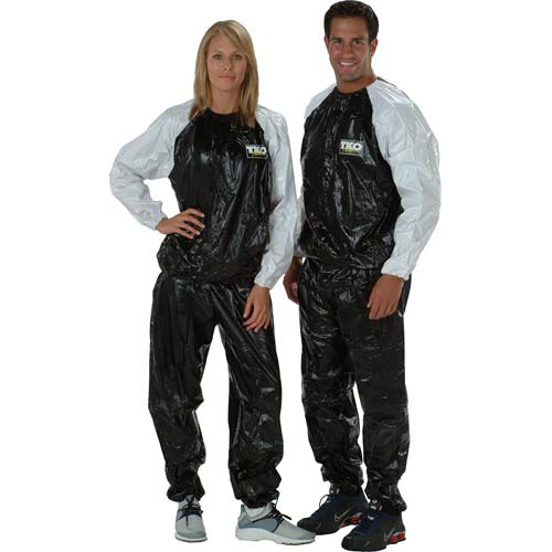 Sauna Suits - TKO 161SS-BW Extreme Training Unisex Sauna Suit Black/White