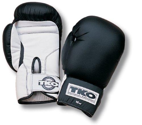 White Gloves - TKO 501DAG-BW-12 All Purpose 12 Oz Boxing Gloves - Black White