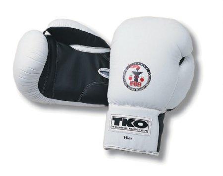 White Gloves - TKO 501DAGW-WB-12 Women Fts All Purpose 12 Oz Boxing Gloves White Black