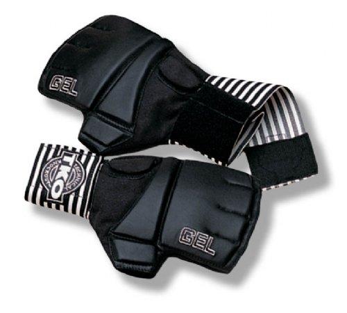 White Gloves - TKO 501LWB-BW-SM Pro Wrap Bag Gloves Small Medium Black White