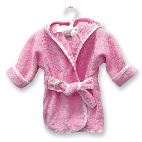 Terry Robe - Trend Lab 100051 TERRY INFANT ROBE PINK