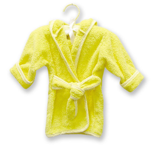 Terry Robe - Trend Lab 100052 TERRY INFANT ROBE YELLOW