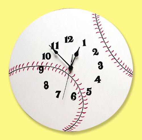 Trend Lab 100328 Baseball Wall Clock