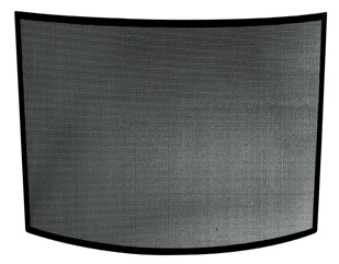 Uniflame S-1042 SINGLE PANEL CURVED BLACK WROUGHT IRON SCREEN