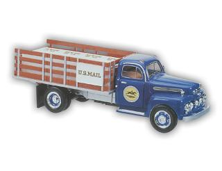 1/25 1951 USPS Stake Truck with Display Stand