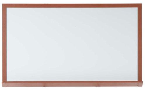 Aarco 420OD48120 49 x 121 x 2 Inch  Markerboard with Oak Wood-Look Frame