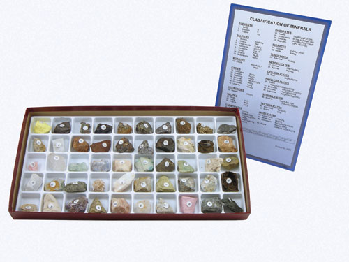 Hubbard Scientific 2253 Classification of Minerals Collection