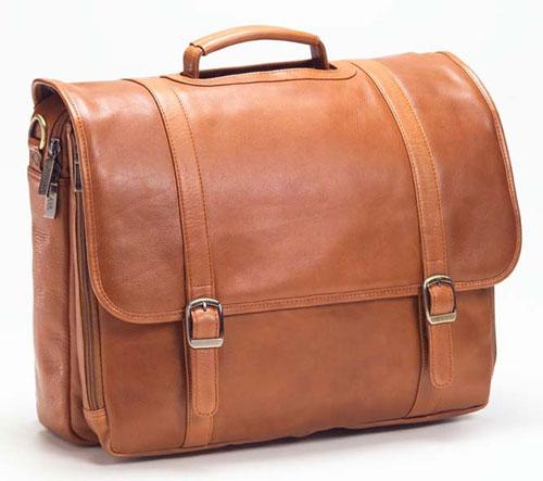 Clava 11521 Executive Laptop Briefcase - Vachetta Tan