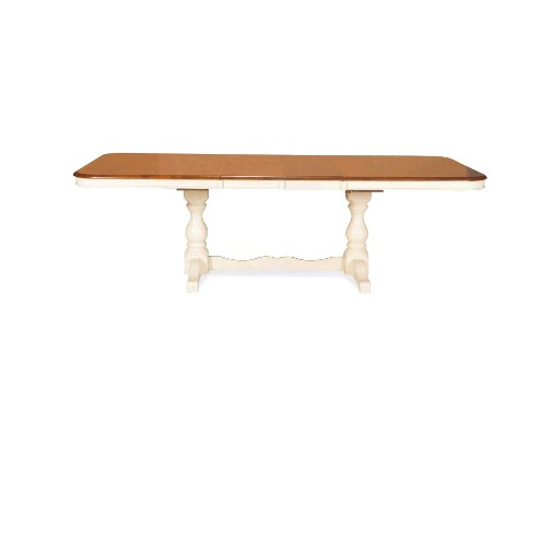 International Concepts T60-4268XBT 42 x 68 x 82-96 Inch Double Pedestal Extension Table Top Only - Heritage Oak-Pearl