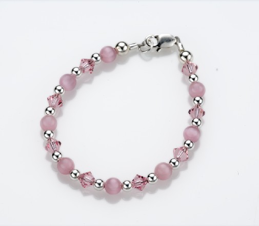 My Little Jewel  A8M Pretty In Pink Bracelet - Medium - 9-24 Months - 5 Inches