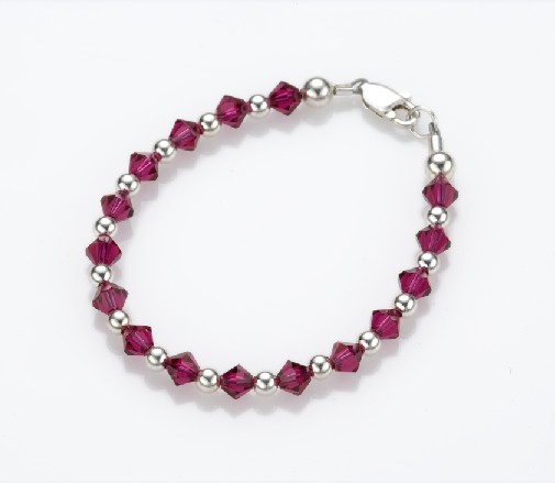 My Little Jewel  B3XXL Regal Ruby Bracelet - XX-Large - 8-12 Inches - 6.6 Inches