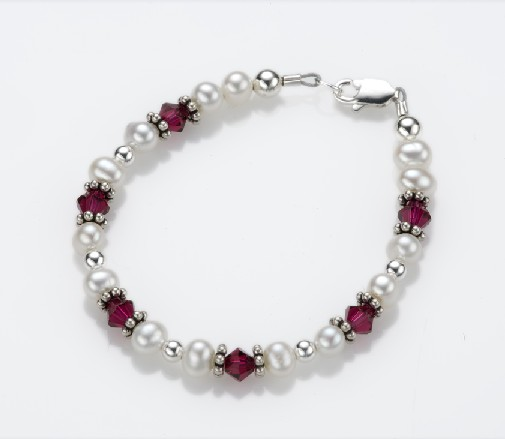 My Little Jewel  P7XS Rose Petals Bracelet - X-Small - 0-3 Months - 4 Inches