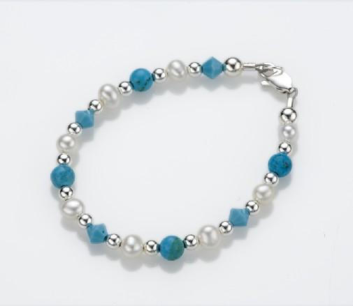 My Little Jewel  T1XS Soft Sea Breeze Bracelet - X-Small - 0-3 Months - 4 Inches