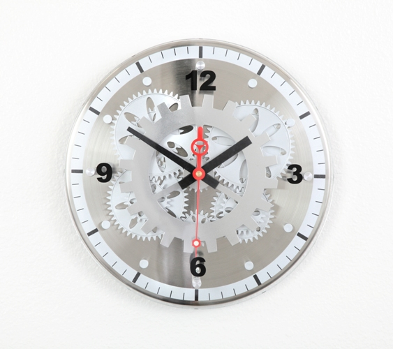 Maples GCLY-22 Moving-Gear Wall Clock - With Glass Cover