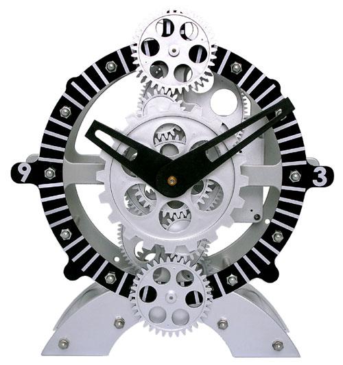 Maples TCL06-222 Moving-Gear Desktop Clock
