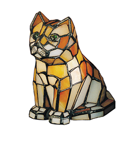 Meyda Tiffany 11332 7 Inch H X 4 Inch W X 6 Inch D Tiffany Cat Accent Lamp