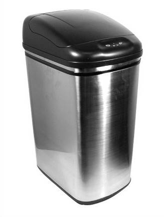 Nine Stars 11 Gallon Stainless Steel Infrared Trash Can