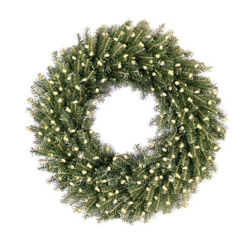 National Tree Company NF-72WLO 72 Inch Norwood Fir Wreath with 450 Clear Lights