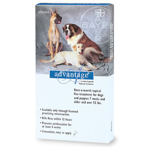 Image of Advantage BLUE-100-4 Advantage - For Dogs And Puppies Over 55